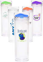 15 oz. Clearview Straight Tumbler with Colored Lid
