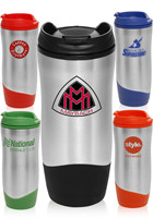 16 oz. Color Accent Travel Mugs