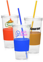 28 oz. Single Wall Acrylic Tumbler with Grip