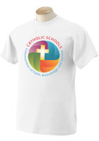 Fruit of the Loom 5 oz. White Full Color 100% Heavy Cotton HD� T-Shirt