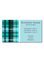 Blue Plaid Magnets