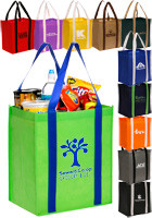 Grande Two Tone Large Grocery Tote Bags