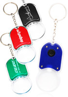 Magnifying Glass Keychains with LED Light