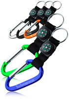 Metallic Color Carabiner with Compass Strap