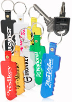 Square Head Key Soft Keychains